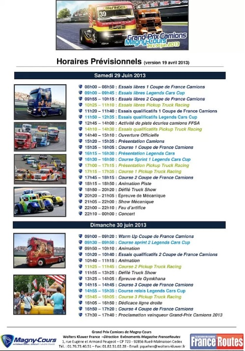 Calendrier 2013 team robineau truck racing team - Calendrier coupe de france ...